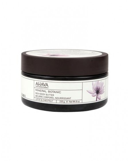 AHAVA Mineral Botanic Rich Body Butter – Lotus & Chestnut