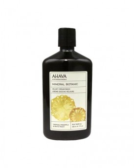 AHAVA Mineral Botanic Velvet Cream Wash - Tropical Pineapple & White Peach